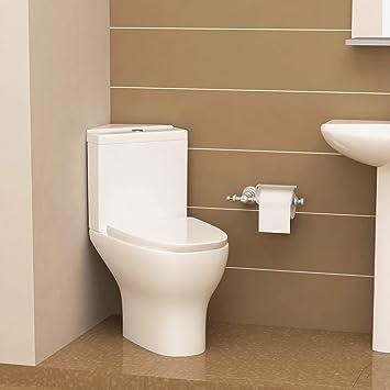 Modernes Safran Semi Flush zu Wand Pfanne & Eck WC ...