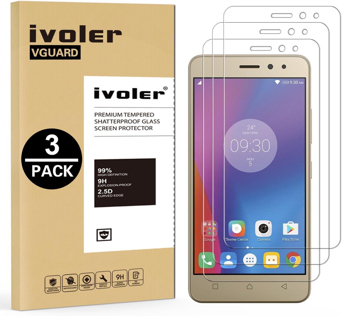 ivoler [3 Unidades] Protector de Pantalla para Lenovo K6, Cristal Vidrio Templado Premium: Amazon.es: Electrónica