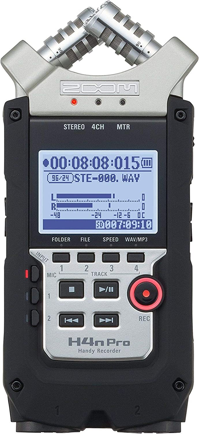 Black Zoom Zoom H4N PRO Digital Multitrack Recorder Ohrst/öpsel 6 Centimeters Schwarz