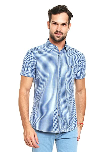 Azul para S Hombre Talla Corta Colins Manga Claro Azul Camisa Camisa AY1q5T b108344592c