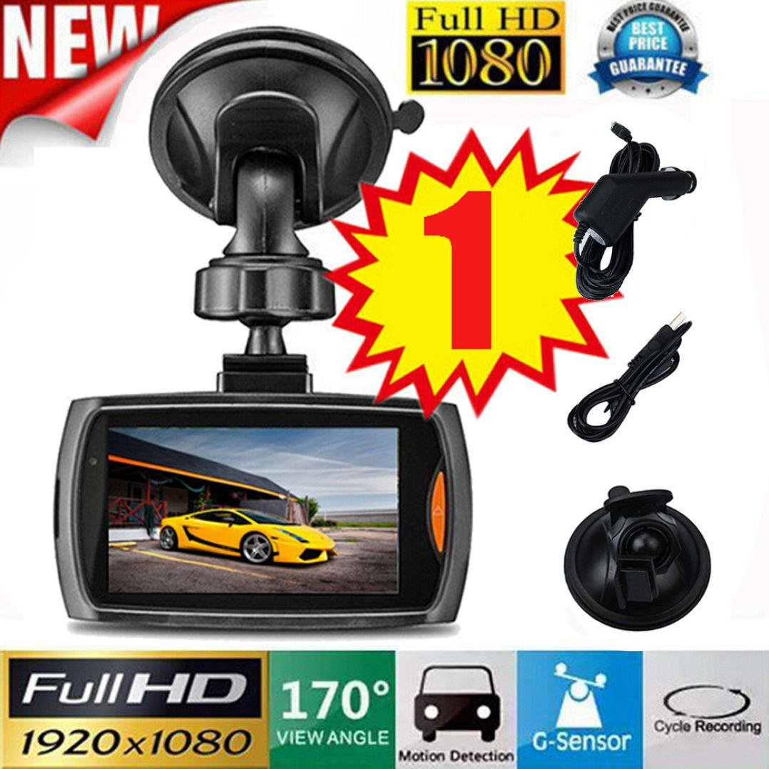 Vehicle Camera DVR, Ikevan 1x Car 1080P 2.2'' Full HD DVR Vehicle Camera Dash Cam Video Recorder G-sensor Night Vision (B 2.4 Inch)