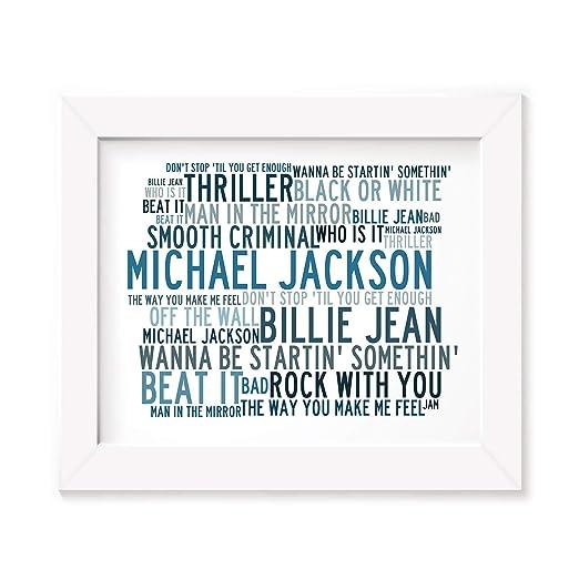 Michael Jackson Poster Print - Anthology - Letra firmada ...