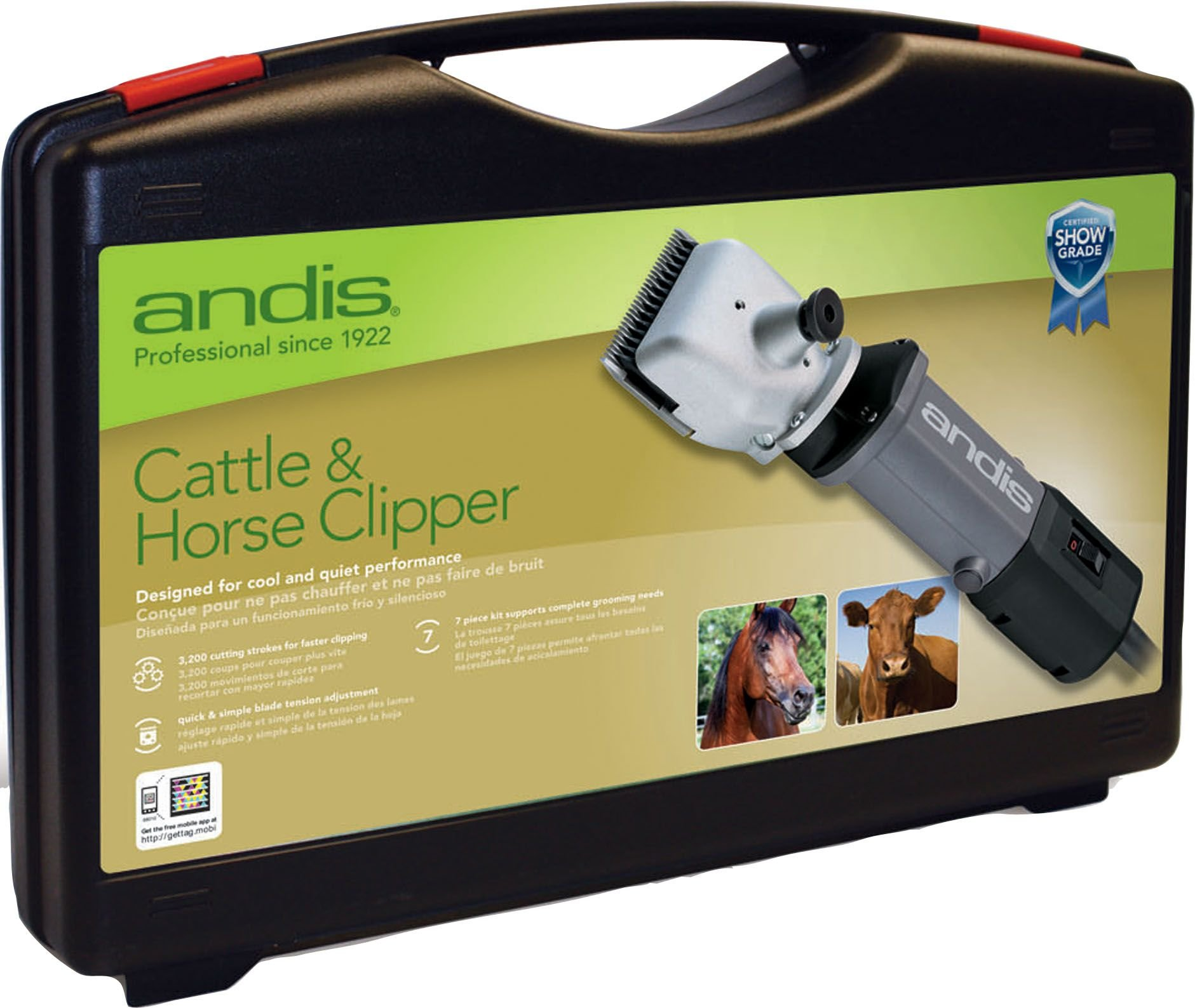 Andis Cattle and Horse Clipper, Professional Equine and Livestock Grooming, HC (68010)