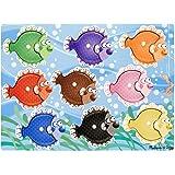 Melissa & Doug Colourful Fish Wooden Peg Puzzle (9 pcs)