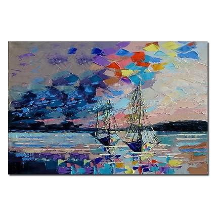 amazon com no framed seven heart art hand painted canvas wall art