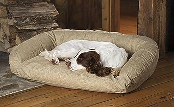 Orvis Deep Dish toughchew perro cama con espuma viscoelástica/perros grandes 60 - 120 LBS., diseño de espiga: Amazon.es: Productos para mascotas