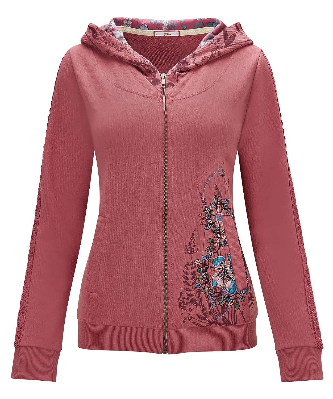 Joe Browns Womens Embroidered Pocket Zip Through Hoody
