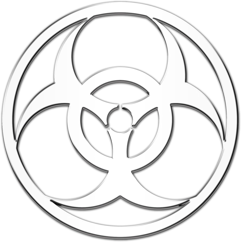Peace 3D-CALS 3-D Chrome Plated Plastic Emblem
