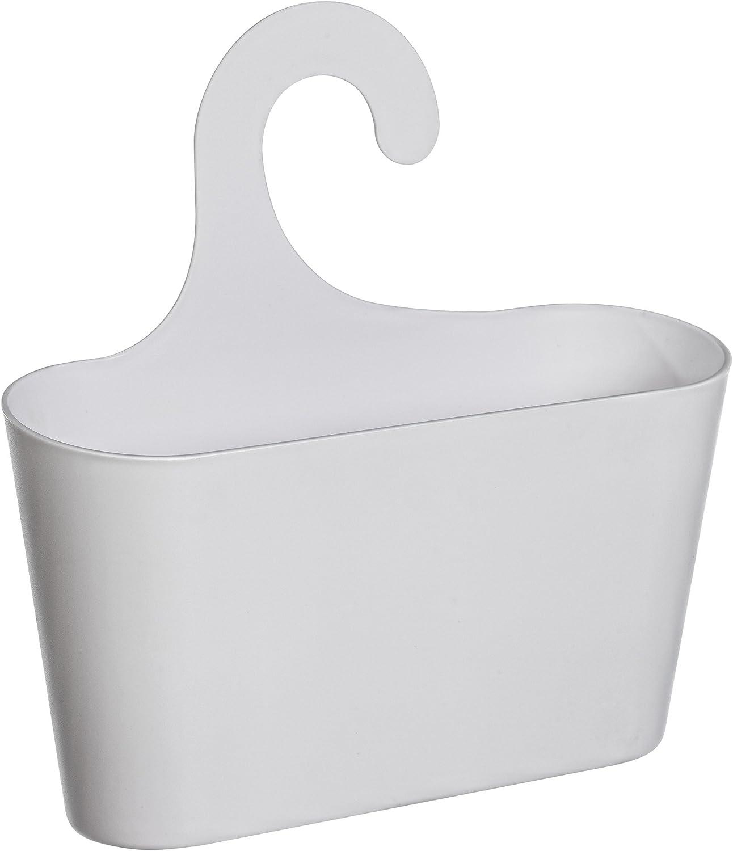 WC toyma 2er-Set Stabiler Aufbewahrungskorb Universal-H/ängekorb Duschkorb bestehend aus 2 Duschk/örben mit Haken zum H/ängen f/ür Bad Dusche in Anthrazit K/üche Keller Garage etc