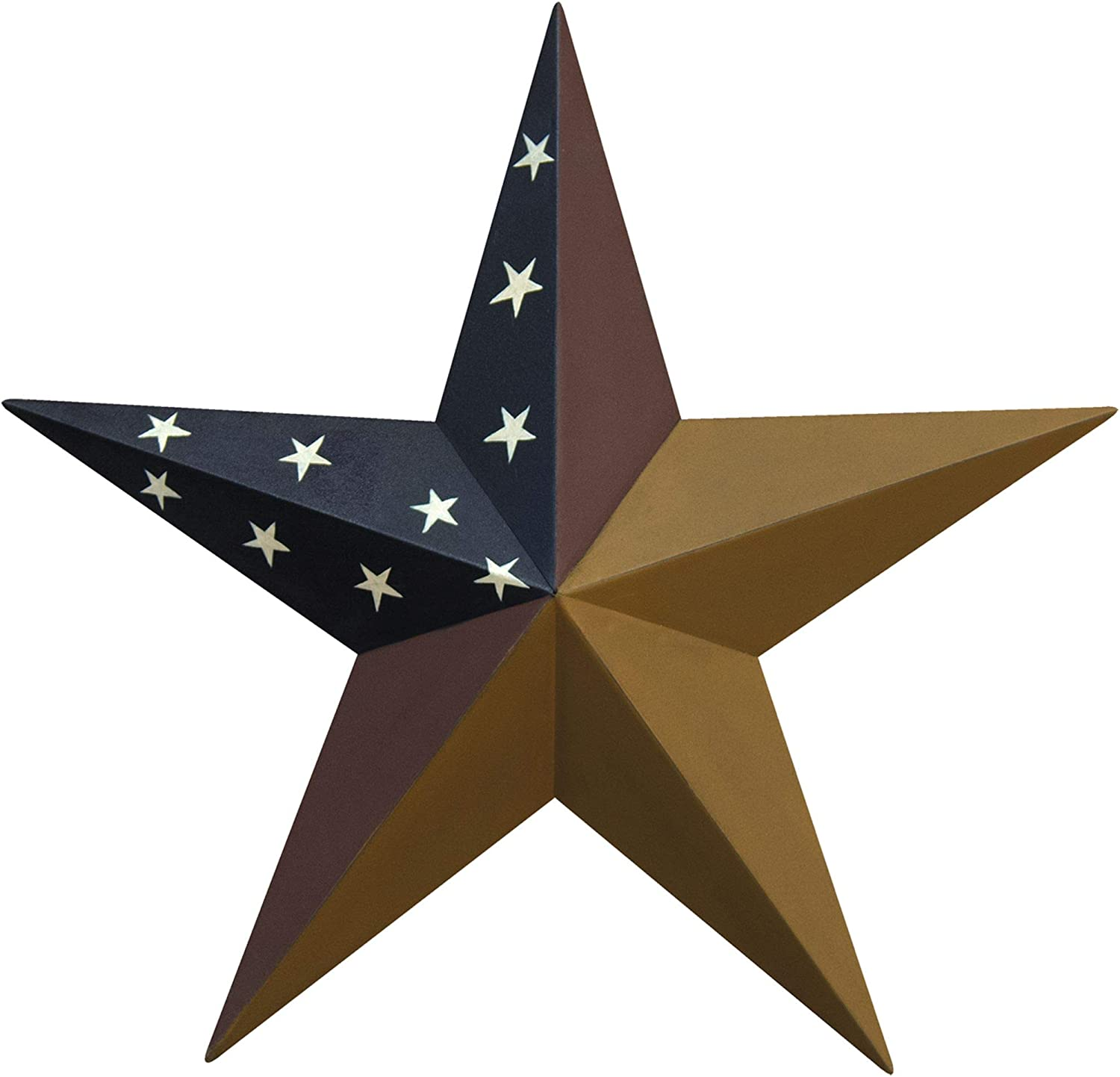 """CWI Gifts 12"""" Colonial Barn Star Wall Décor, Multi"""