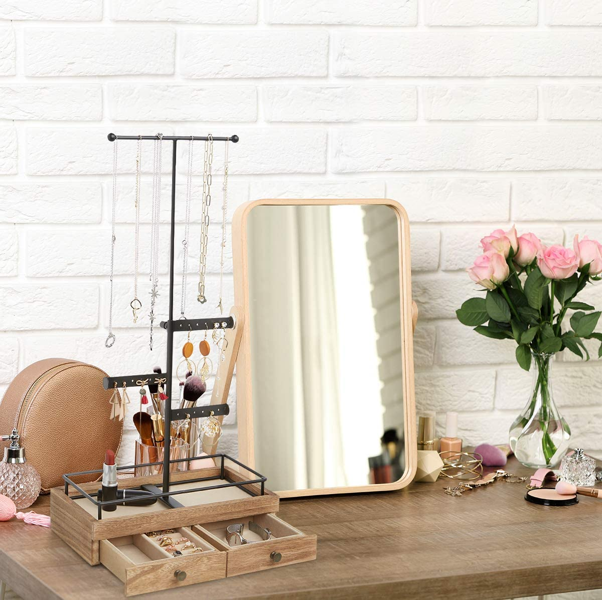 Jewelry Organizer with Adjustable Height