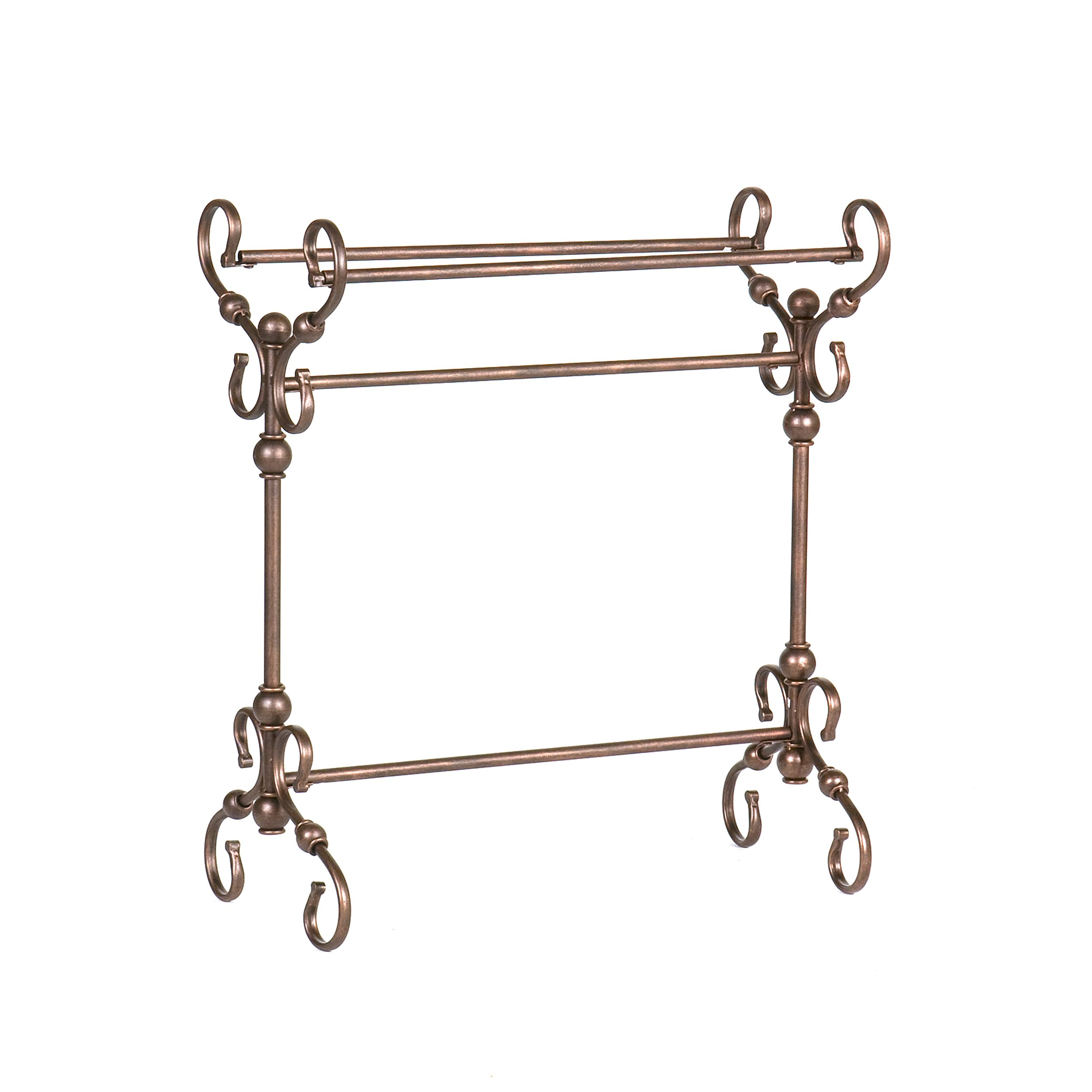 Lourdes Blanket Rack - Metal Scroll Work w/ Antique Bronze Finish - Traditional Style by Southern Enterprises