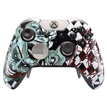eXtremeRate Funda Delantera Carcasa Protectora de la Placa Frontal Cubierta Esmerilada Antideslizante con Dos Anillos de Acento para el Mando del Xbox ...