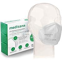 Medisana FFP2/KN95 10x Mascarilla de Protección Persona, Mascara antipolvo, RM 100, protección bucal de 3 capas, Máscara…