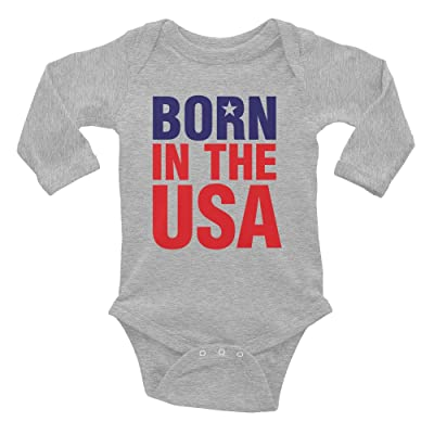 Born in the USA Long-Sleeved Onesie