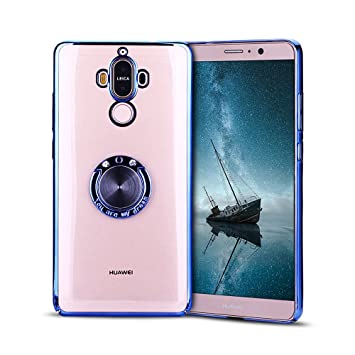Anfire Funda Huawei Mate 9, Fundas con Anillo de Soporte Transparente Case Anti Rasguños Antideslizante Carcasa Dura PC Protector Caso para Huawei ...