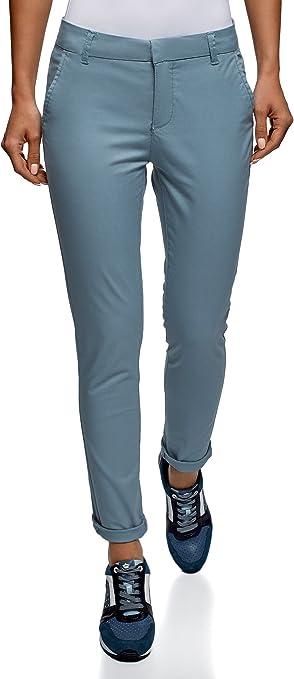Oodji Ultra Mujer Pantalones Chinos De Algodon Amazon Es Ropa Y Accesorios