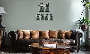 Decal Serpent Dalek Robot Exterminate Family Vinyl Wall Mural Decal Home Decor Sticker (Black)