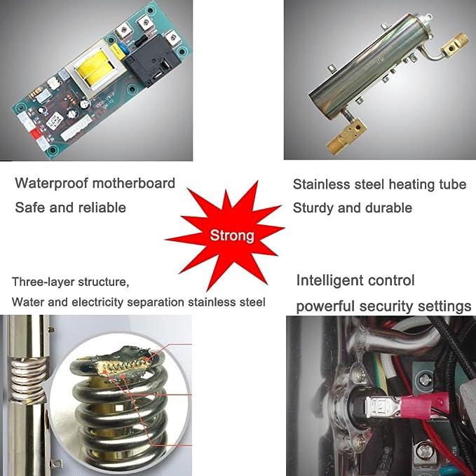 Calentador de agua eléctrico instantáneo de 220V 5.5kw Calentador de agua de baño doméstico Calentador de agua rápido inteligente de Mini Tankless ...