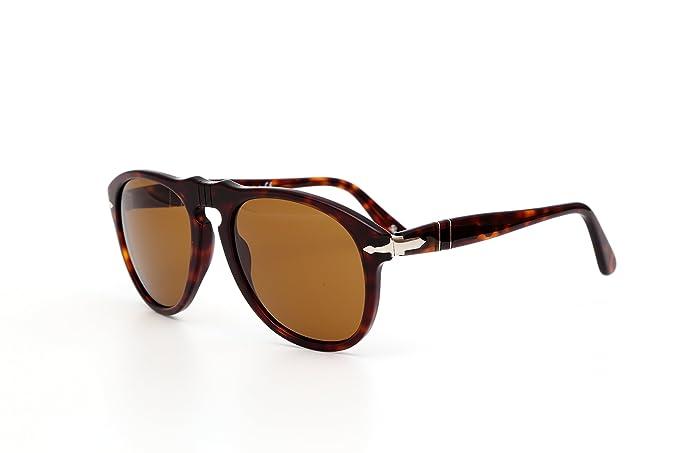 cc7c196d9a Amazon.com  Persol Unisex 0649 Havana Tortoise Frame Brown Lens Plastic  Sunglasses