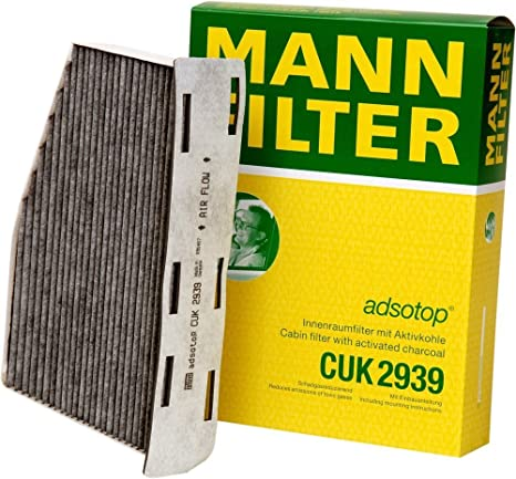 Amazon.com: Filtro de cabina Mann-Filter CUK 2939 con ...