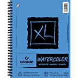 Canson XL Series Watercolor Textured Pad, Use with Paint Pencil Ink Charcoal Pastel and Acrylic, Side Wire Bound, 140 Pound, 7 x 10 Inch, 30 Sheets