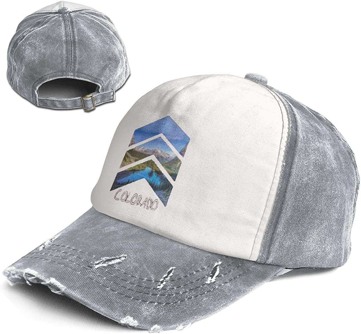Fashion Vintage Hat Rocky Mountains Colorado Adjustable Dad Hat Baseball Cowboy Cap