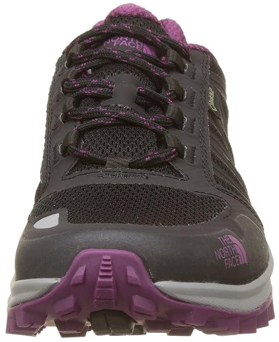 The North Face Damen Litewave Fastpack Gore-Tex Sneaker, Mehrfarbig (TNF Black/Amaranth Purple), 36.5 EU