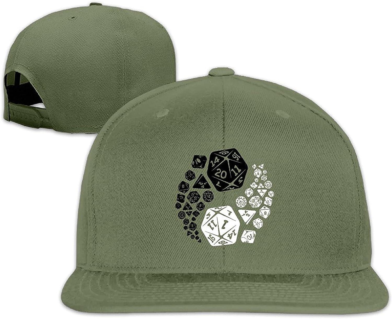 Men's Unisex Dungeons and Dragons Yin Yang Good and Evil Rock Cap Summer Baseball Hats