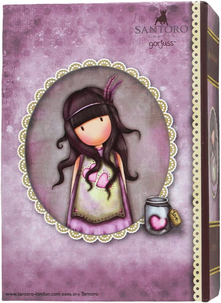 Gorjuss JW-05-G Joyero Libro Pequeño Jar of Hearts: Amazon.es ...