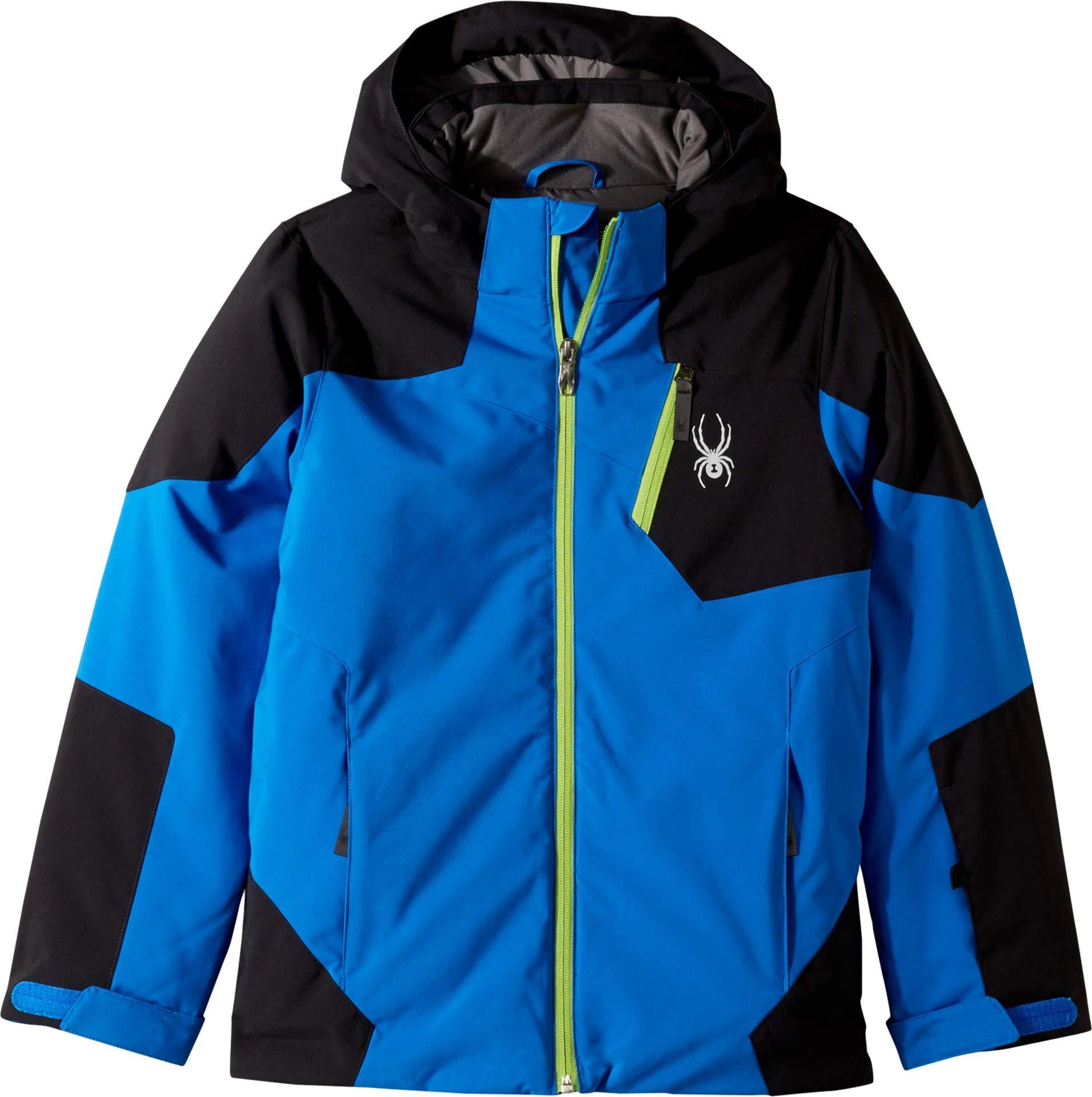 Spyder Boys' Chambers Ski Jacket, Turkish Sea/Black/Fresh, Size 8