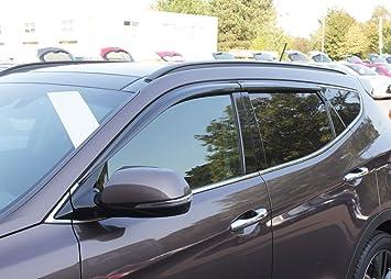 Autoclover Windabweiser Set 4 Teilig Für Hyundai Santa Fe 2013 2018 4 Stück Auto