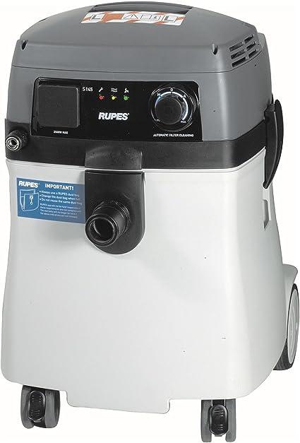 RUPES S145EPL - Aspiradora electroneumática profesional con filtro de limpieza, 230 V, extremadamente silenciosa, para extraer polvo del lijado y varios tipos de trabajos industriales: Amazon.es: Hogar
