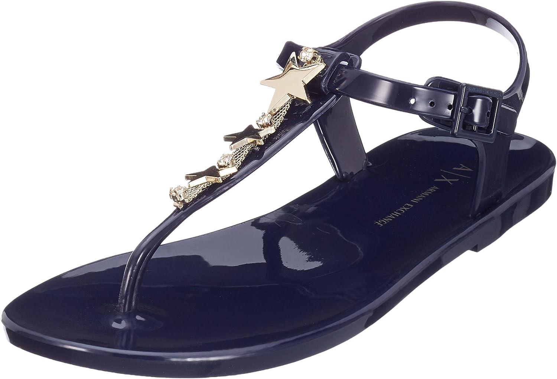 Armani Exchange Star Rubber Sandal, Chanclas Mujer