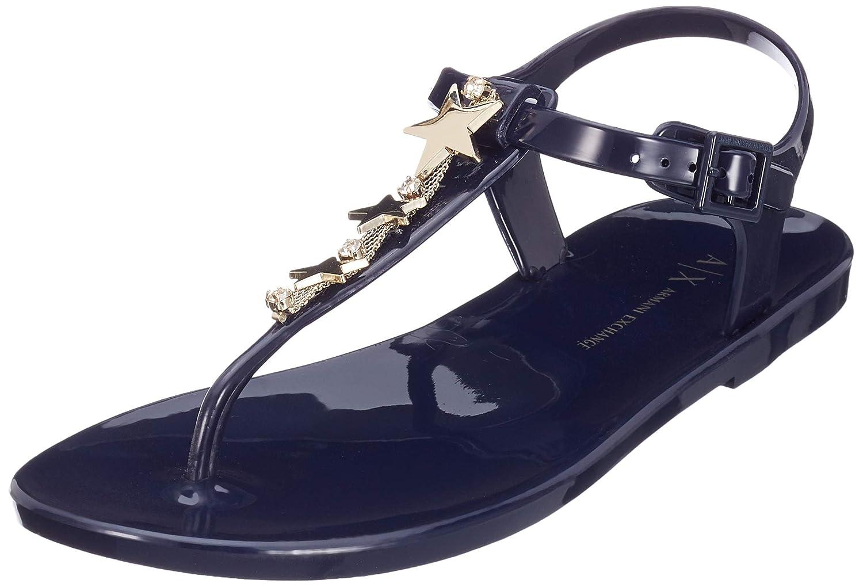 Blau (Blau Moon 00006) Armani Exchange Damen Star Rubber Sandal Zehentrenner