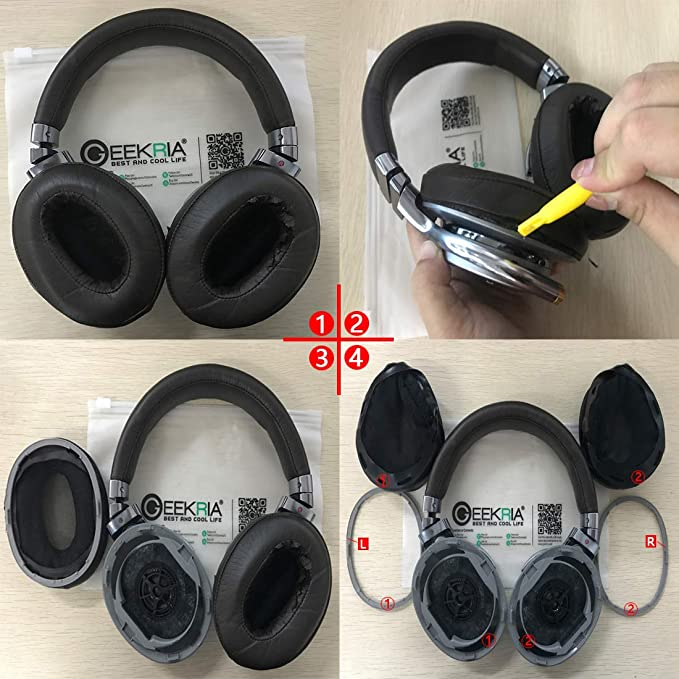 DHW-55 Headphones Replacement Earpads Ear Covers for Sony MDR 1R 1RNC 1RMK2 1RBTMK2 1A DAC 1ABT