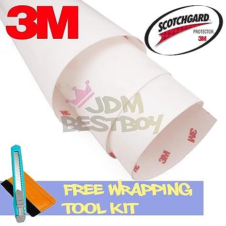 FREE TOOL KIT 3M Scotchgard Hood Bumper Paint Protection Brace Clear Film  Vinyl Wrap Decal Self Adhesive - 6