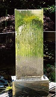 Große Edelstahl Wasserwand 1,74m: Amazon.de: Garten