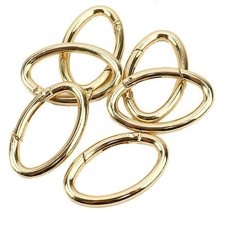 Amazon.com: JETEHO 6 piezas oro ovalado resorte clip ovalado ...