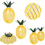 Whonline 2 Pack 8ft 10 LED Pineapple String Lights Battery Operated Fairy String Lights for Party and Home Festival Decoration (Warm White)