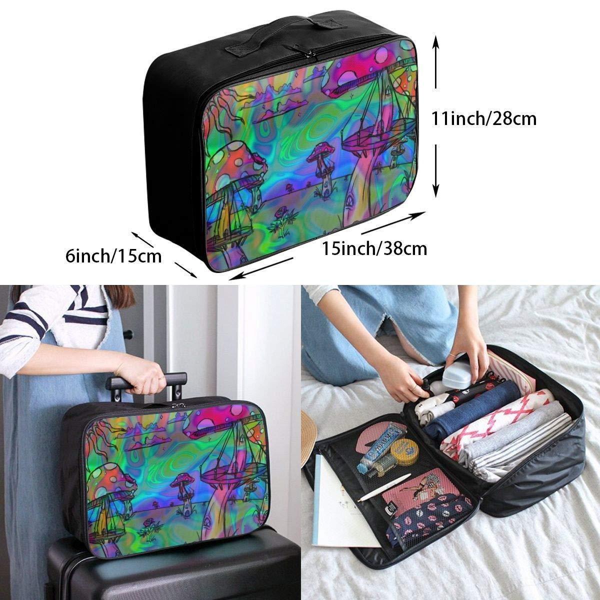 Psychedelic Trippy Mushroom Travel Duffel Bag Waterproof Fashion Lightweight Large Capacity Portable Duffel Bag for Men /& Women JTRVW Luggage Bags for Travel