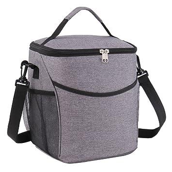 Bolsa isotérmica, gvoo Lunch Bag 9L - Bolsa para el almuerzo ...
