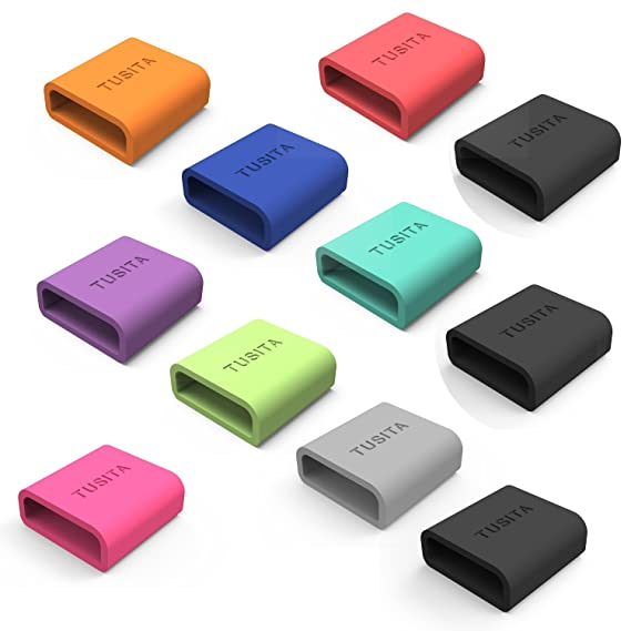 Tusita® Silikon-Verschlussring für Samsung Gear Fit 1/Samsung Gear Fit 2/Garmin Vivofit 1/Garmin Vivofit 2/Vivosmart HR/Vivos