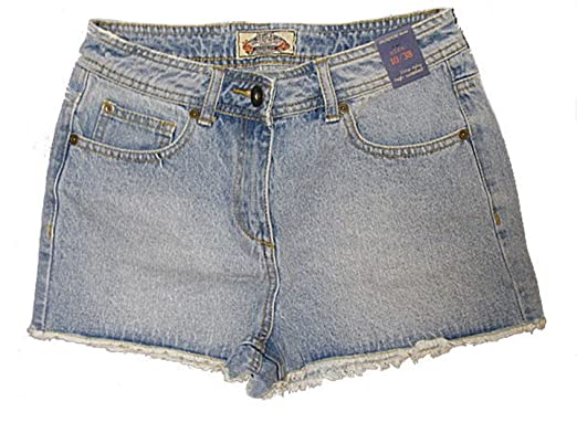 72f3c626ea Love Lola Womens Denim Shorts Ladies High Waisted Light Denim Jeans Shorts  Quality Jeans Hot Pants Light Blue 8-16 (14): Amazon.co.uk: Clothing