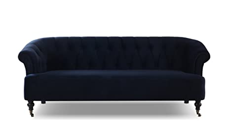 Jennifer Taylor Home 63520-3-872 Maxine Sofas, Dark Navy Blue