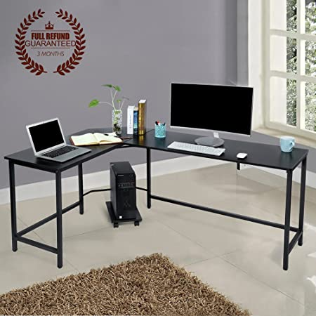office wood desk. L-Shaped Corner Computer Desk Large PC Laptop Study Table Workstation Home Office Wood M