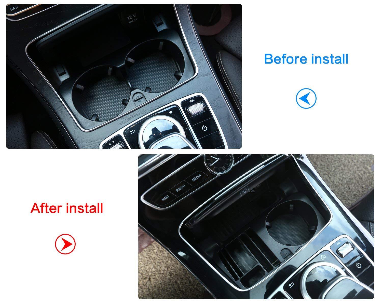 Plastic Central Console Storage Box Cup Holder Accessory for Mercedes benz E class c207 Coupe 2014-2017 E class w212 w213 2014-2017 GLC C-class w205 2015-2016