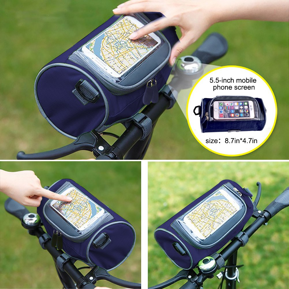 ROLSCALER Bike Handlebar Bag Bike Basket Bicycle Front Storage Bag Pouch Insu...