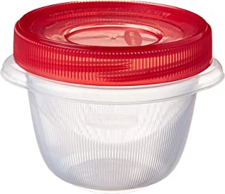 product image for Rubbermaid TakeAlongs Twist and Seal Food Storage Containers, 1.2-Cup, Clear, Set of 4 (4-Pack of 4), 1, Red