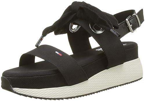 4a95ce0c6920 Tommy Jeans Women s Modern Hybrid Sandal Bow Sling Back  Amazon.co ...